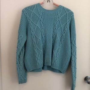 Blue Thick Knit Topshop Sweater